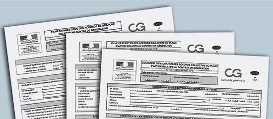 Contrat de génération: les formulaires sont disponibles