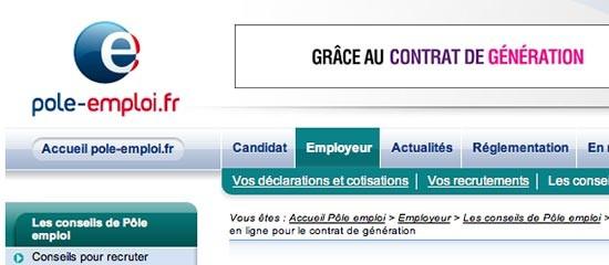 Aide financière au contrat de génération: demandez-la en ligne!